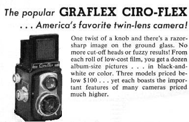 [Graflex Ciro-Flex Ad from 1953]